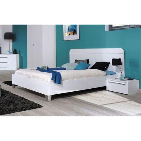 chambre avec meuble blanc lit adulte 140 x 190 laqué blanc achat vente