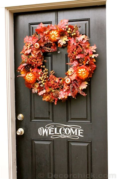 fall door wreaths to make how to make an easy wreath fall front door wreath decorchick