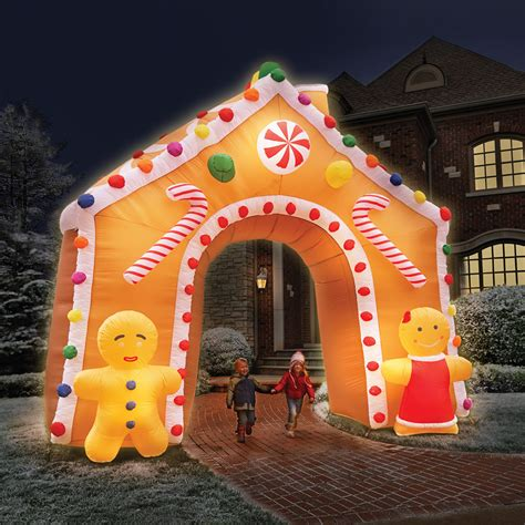 foot illuminated gingerbread house hammacher