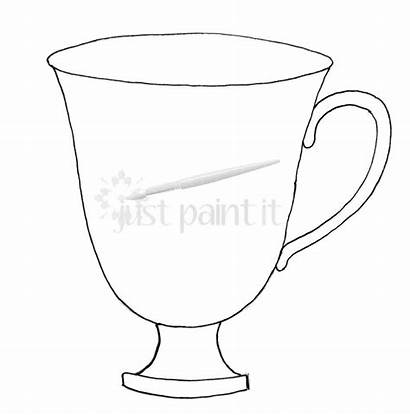 Printable Teacup Coloring Tea Pages Printables Party