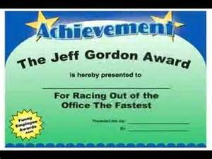 Funny Employee Award Certificates