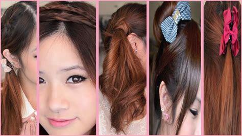 quick  easy   school hairstyles youtube