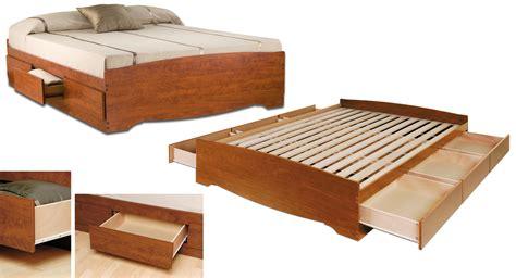 Prepac, Cherry Full Platform Storage Bed (6-drawers