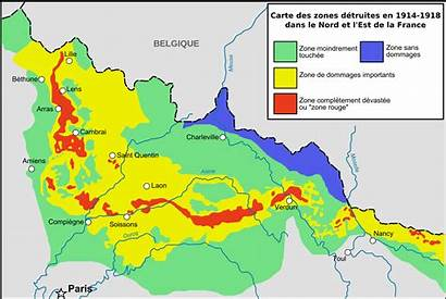 Zone Rouge France Map Ww1 Area Forbidden