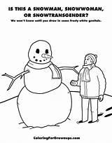 Coloring Grown Books Ups Coloringforgrownups Snowwoman Snowman Adult Draw Doodle Million Genital sketch template