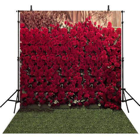 wedding photography backdrops rose flowers backdrop