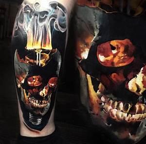 Skull & Light Bulb Merged | Tattoo Ideas ♡ | Pinterest ...