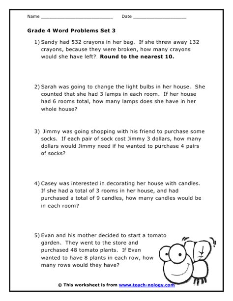 grade 4 word problems set 3