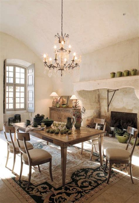 authentic dining room in rustic style