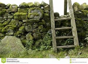 Stile In Wall, Lake District, Uk Stock Photo