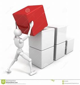 3d Man Is Building Success Business Chart Of Blocks Stock ...