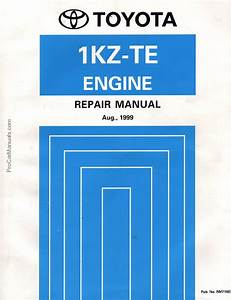 Toyota 1kz-te Engine Repair Manual  Rm710e