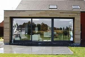 extension maison ossature bois sur pilotis prix With extension bois maison prix