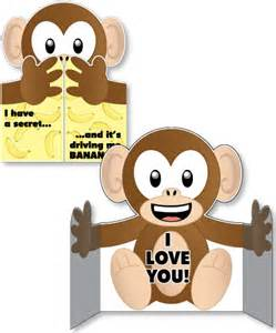 Monkey Hug Card