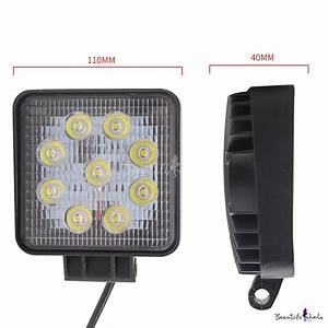 Jeep led flood lights : Inch led work light w cree flood beam for off road