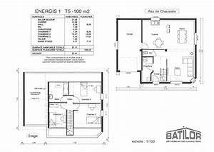 plan de maison de 100m2 plein pied la romaine 3 plainpied With plan de maison de 100m2 plein pied