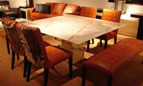 Honey Onyx Dining Table   9369 Green Onyx Dining Table