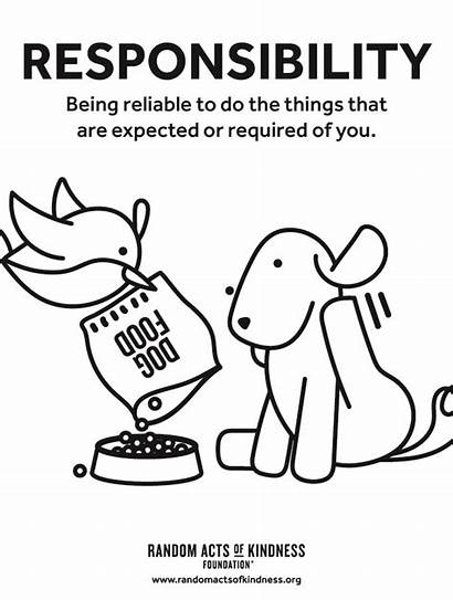 Kindness Coloring Responsibility Acts Random Lesson Plans