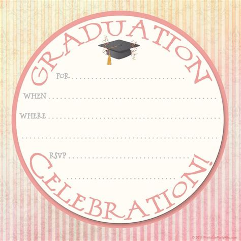 invitation template 40 free graduation invitation templates template lab
