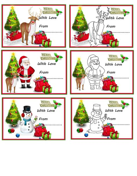 christmas gift cards to print template update234 com