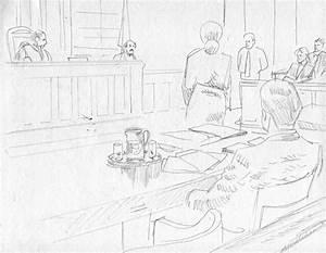 Final Courtroom Sketch Art / Top Shelf Productions