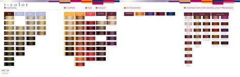 iso hair color iso i color swatch chart color charts hair color