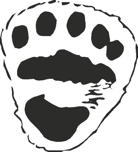 Polar Bear Paw Print Template