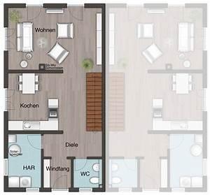 Doppelhaus Grundriss Beispiele : das doppelhaus aura 125 grundriss erdgeschoss ihr town ~ Lizthompson.info Haus und Dekorationen