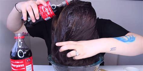 wash  hair  coca cola