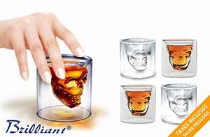 Verre A Shooter : tuango 29 for a set of 4 double wall skull shot glasses from brilliant value of 46 ~ Teatrodelosmanantiales.com Idées de Décoration