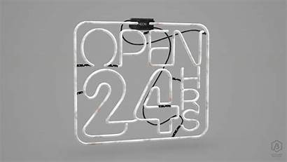 Japanese Sign Neon Signs Ready 3d 24h