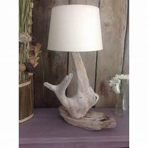 Lampe Bois Flotté : lampe a poser en bois flott ~ Teatrodelosmanantiales.com Idées de Décoration
