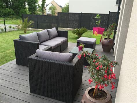 beautiful salon de jardin en salon de jardin résine tressée aluminium 5 places benito