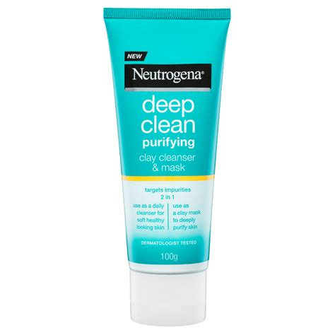 Deep Clean Purifying Clay Cleanser & Mask | NEUTROGENA