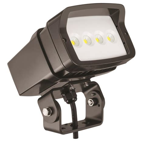 juno msl series outdoor bronze led mini security light