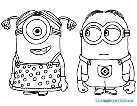 Coloring Pages Minions Fireman
