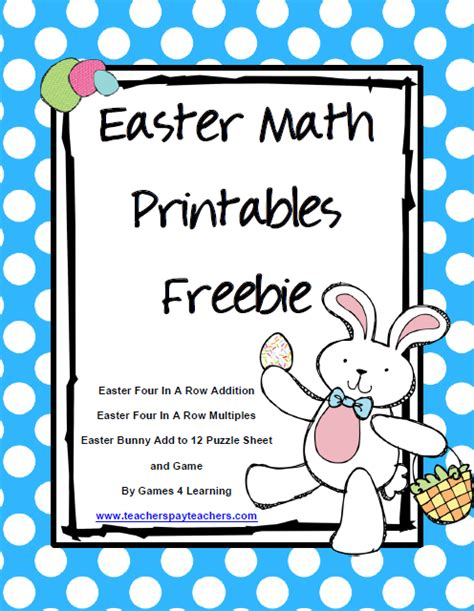 4 learning easter math and easter freebies