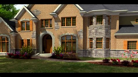 house exterior rendering animation 3ds max v ray hd