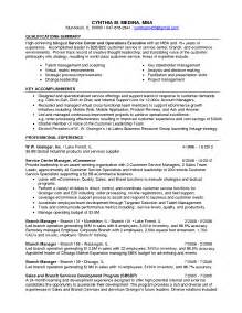 sle resume qualifications for customer service summary of accomplishments exles