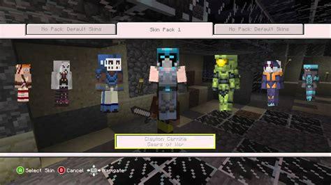 minecraft skin pack  dlc xbox  kinect p gameplay