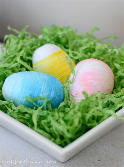 yarn wrapped ombre easter eggs creations  kara