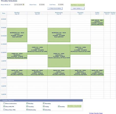 Class Schedule Template College Class Schedule Template Template Business