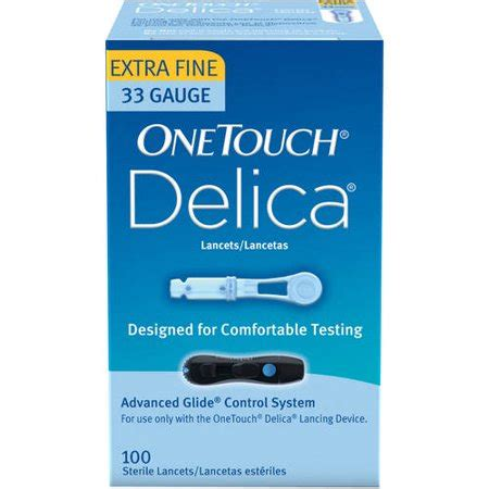 onetouch delica extra fine lancets   ct walmartcom