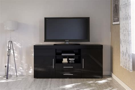 Tv Unit And Sideboard by Black Gloss Living Room Sideboard Cupboard Tv