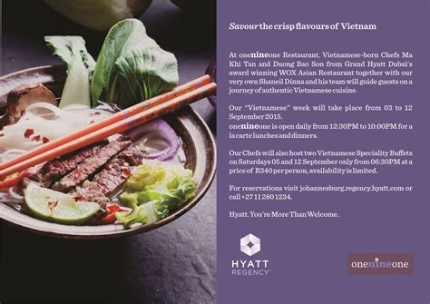 cuisine promotion week onenineone restaurant 3 12 september
