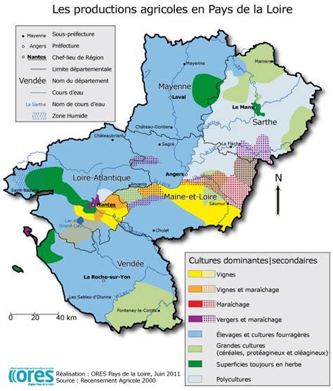 chambre d agriculture pays de la loire répartition géographique des productions en pays de la