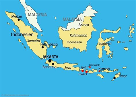 Indonesische Inseln Karte