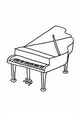 Piano Grand Coloring Printable Freeprintablecoloringpages sketch template