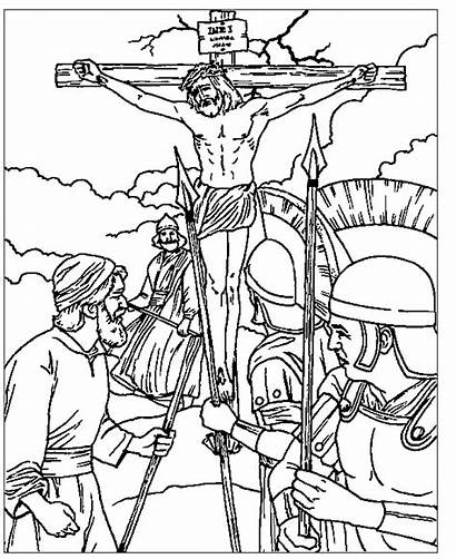 Jesus Coloring Crucifixion Pages Christ Friday Bible