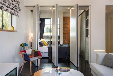 claustra bureau amovible smart modern renovation transforms small apartment